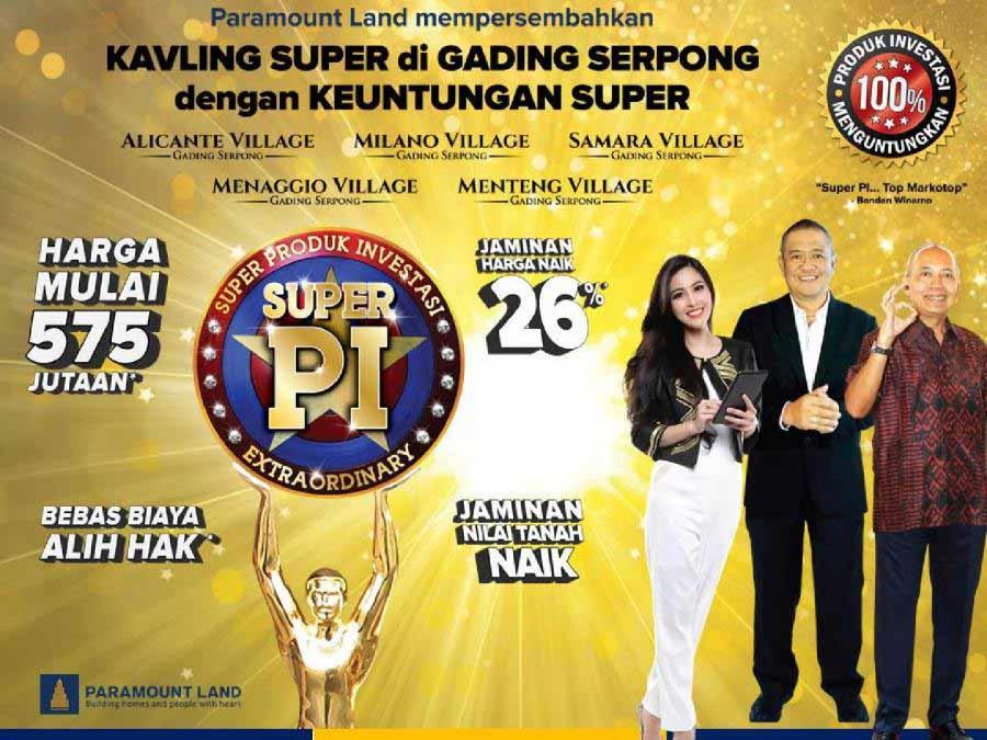 Kavling Super Paramount Indonesia